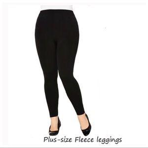 91683192466 Black PLUS Size Fleece-Lined Leggings